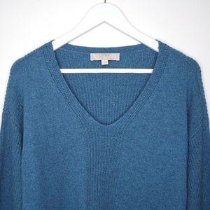 LOFT Sweaters - LOFT   Blue knit long sleeve tunic sweater shirt